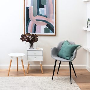 Groove 2 Drawer Side Table